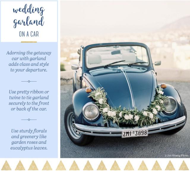 wedding-garland-car